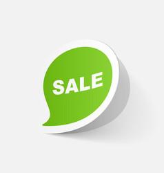 Paper sticker symbol sale vector