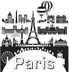Paris city skyline 9 vector