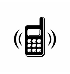 Phone is ringing icon simple style vector image