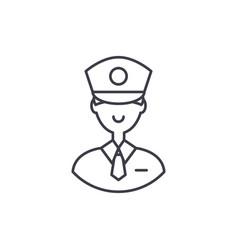 policeman line icon concept policeman vector image