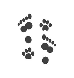 Prints human feet and dog paws icon vector