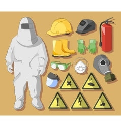 Protective clothing and equipment vector image