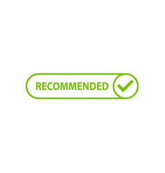 recommended icon with check mark vector image