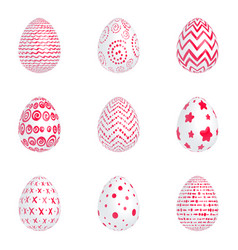red eggs vector image