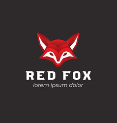 red fox logo template vector image
