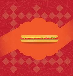 Retro fast food vector image
