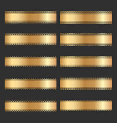 set of vintage gold ornamental borders vector image