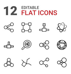 share icons vector image