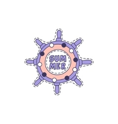 Ship Stirring Wheel Bright Hipster Sticker vector