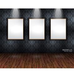 Showroom wall vector