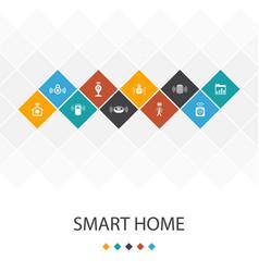 Smart home trendy ui template infographics concept vector