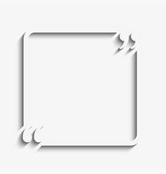square quote blank template bracket vector image