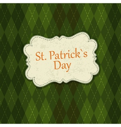 st patrick days background vector image