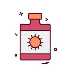 sunblock icon design vector image