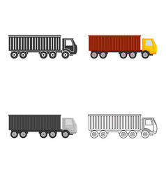 Truck delivery icon of for web vector