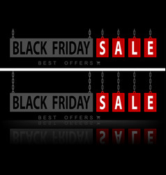 Website banners black friday vector