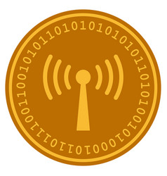 wi-fi station digital coin vector image