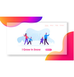 winter season fun and games website landing page vector image