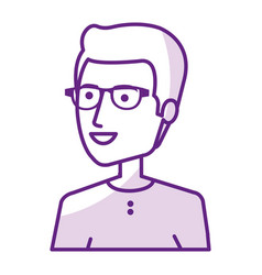 Young man with glasses avatar character vector