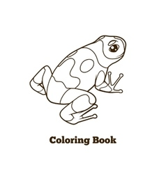 Frog cartoon coloring book vector image