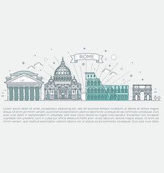 linear icon for vatican rome italy tourist vector image