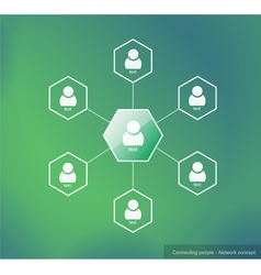 Connecting people - Network concept vector image vector image