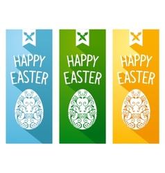 Easter flat flyer vector