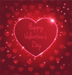 heart light red vector image