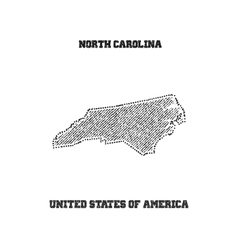 Label with map of north carolina vector image