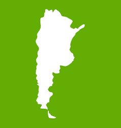 Map of argentina icon green vector