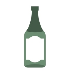 wine bottle isolated icon design vector image