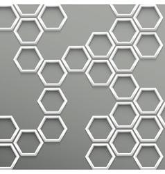 3d trendy geometric background vector image vector image