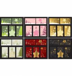 Christmas tree cards vector image vector image