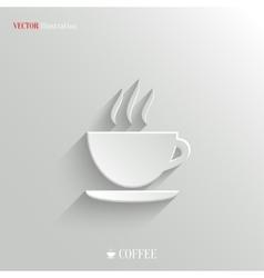 Coffee icon - white app button vector image vector image