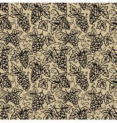Grape vine background vector image vector image