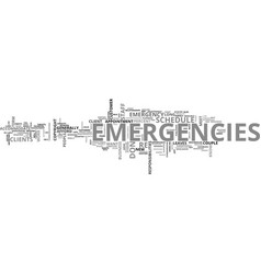It emergencies how to plan for them text vector