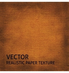 Brown textured paper background vector image vector image