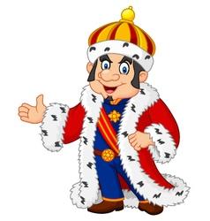 Cartoon king presenting isolated vector