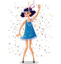 flapper party girl from the roaring 20s retro vect vector image vector image