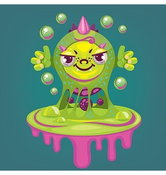 little cartoon virus vector image
