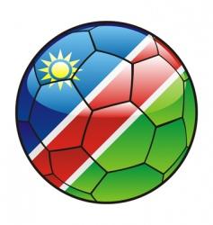 namibia flag on soccer ball vector image vector image