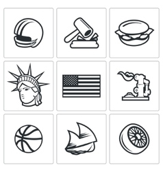 United states icons vector