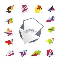 Abstract arrow elements vector image