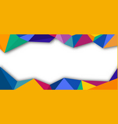abstract banner template design colorful low poly vector image