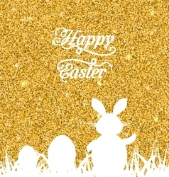 Abstract Easter Sparkle Background with Rabbit vector