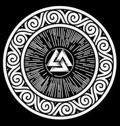 Ancient round celtic scandinavian design celtic vector