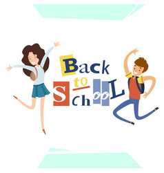 Back to school greeting card design vector