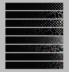 banner background set - rectangular dot pattern vector image