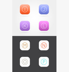 big set app icon template with guidelines fresh vector image