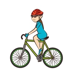 Bike bicycle ride girl vector